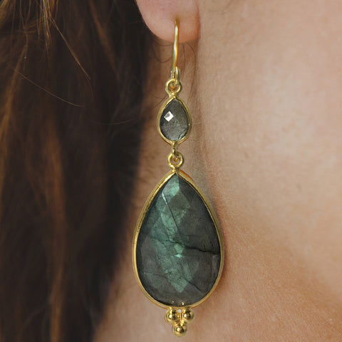 Maharani Labradorite Earrings