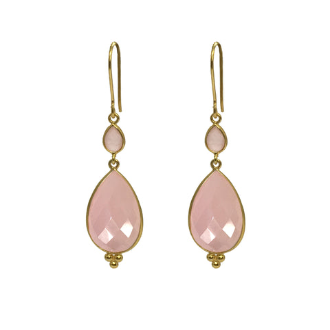 Maharani Pink Quartz Earrings