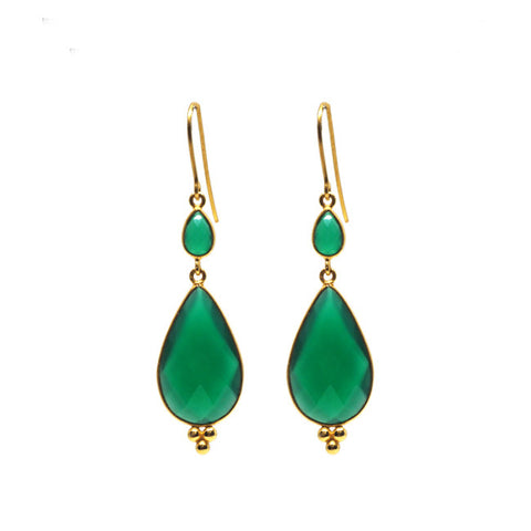 Maharani Green Onyx Earrings