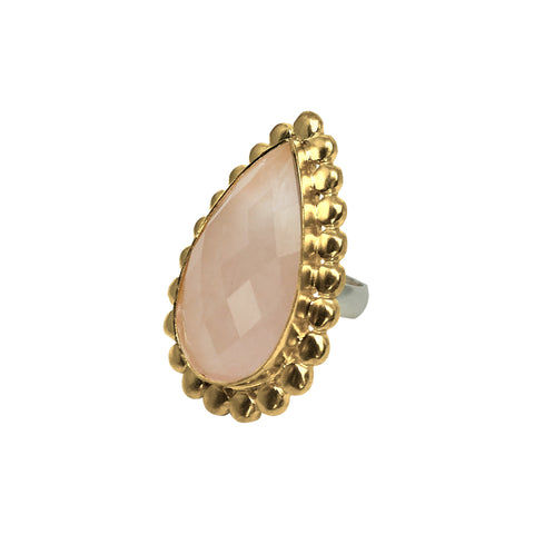 Devi Pink Quartz Ring