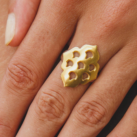 Screen Goddess Ring Gold Silver