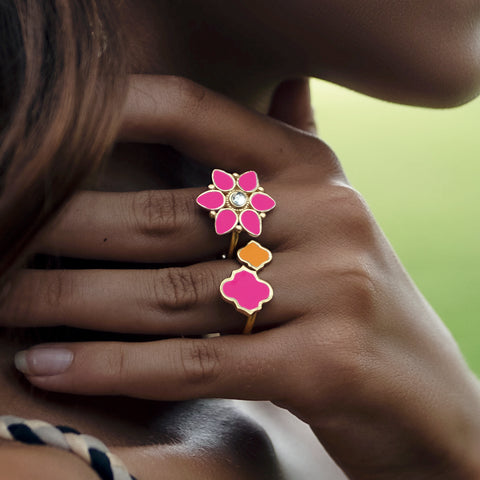 Kashini Ring Hot Pink