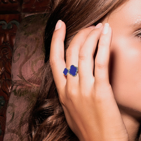 Arabesque Ring Navy