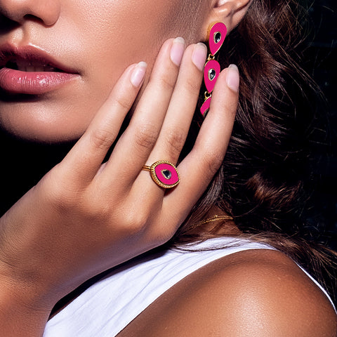 Royal Eye Ring Hot Pink