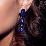 Havana Nights Earrings Navy