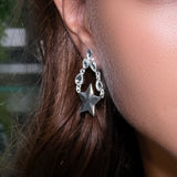 Brahma Earrings Silver