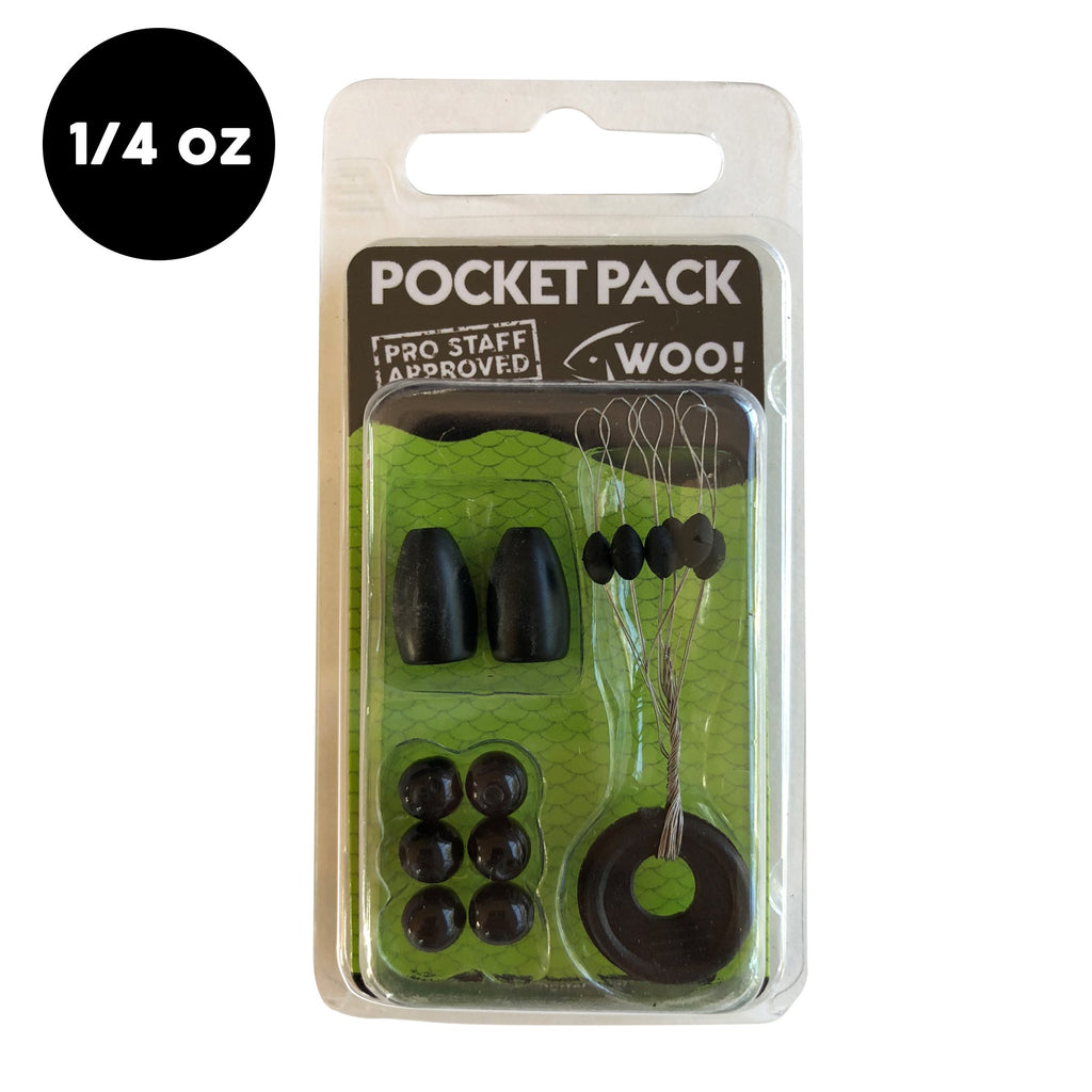 Pocket Pack (1/4 oz) - AS SEEN IN LUCKY TACKLE BOX - WOO! TUNGSTEN