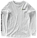 Long Sleeve Logo Tee (Light Gray) - WOO! TUNGSTEN