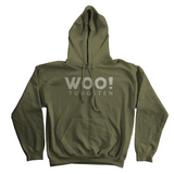 WOO! Tungsten Logo Hoodie (Military Green) - WOO! TUNGSTEN