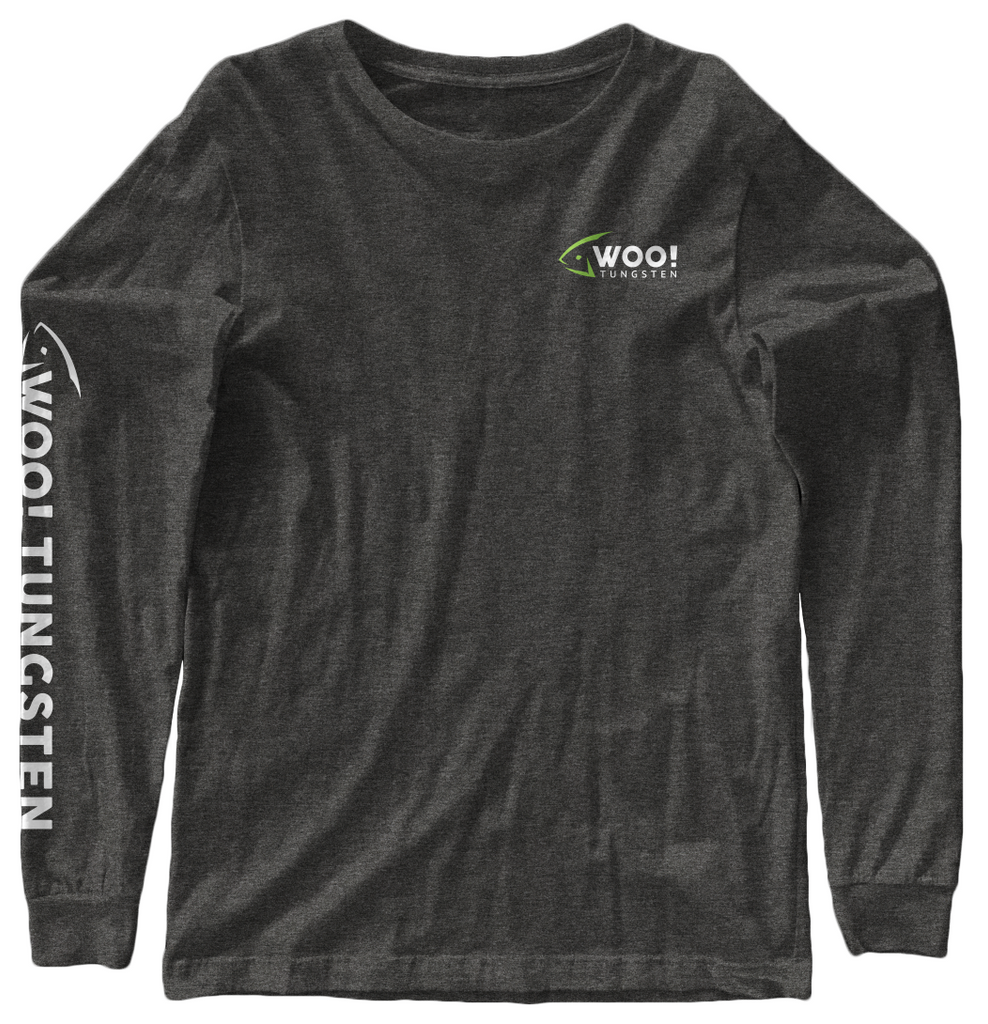 Long Sleeve Logo Tee (Charcoal) - WOO! TUNGSTEN