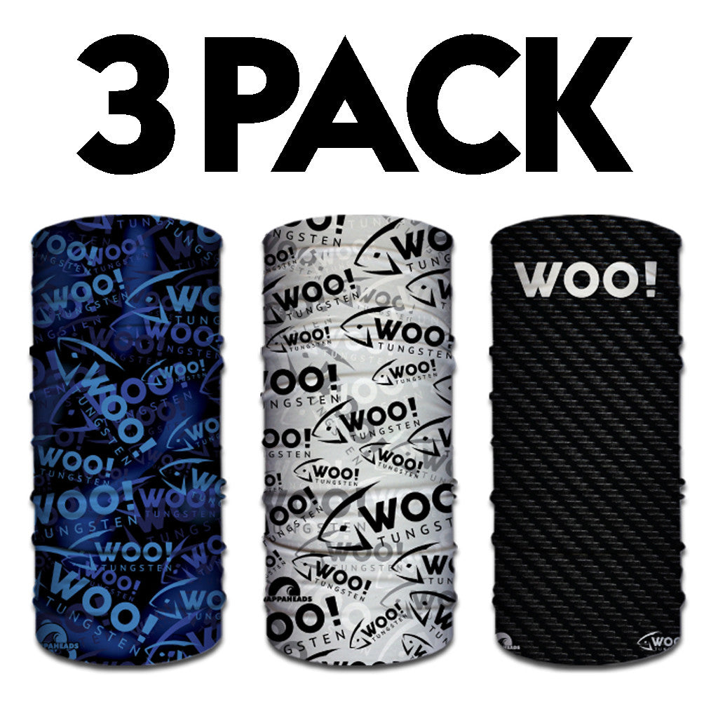 3 PACK - WOO! Tungsten Face Shields (ALL 3 DESIGNS!) - WOO! TUNGSTEN