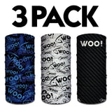 3 PACK - WOO! Tungsten Face Buffs (ALL 3 DESIGNS!) - WOO! TUNGSTEN