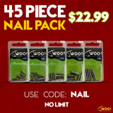 "NAIL PACK - Every Nail Weight Size Between 1/64 oz and 3/32 oz - USE CODE ""NAIL"" - WOO! TUNGSTEN"