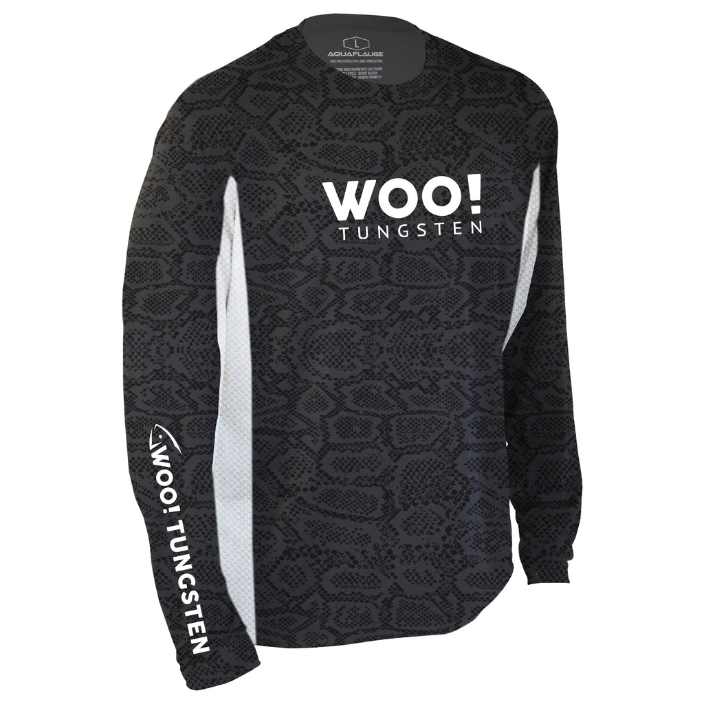 2020 WOO! Tungsten Pro Staff Jersey UV Performance Shirt (Black) - WOO! TUNGSTEN