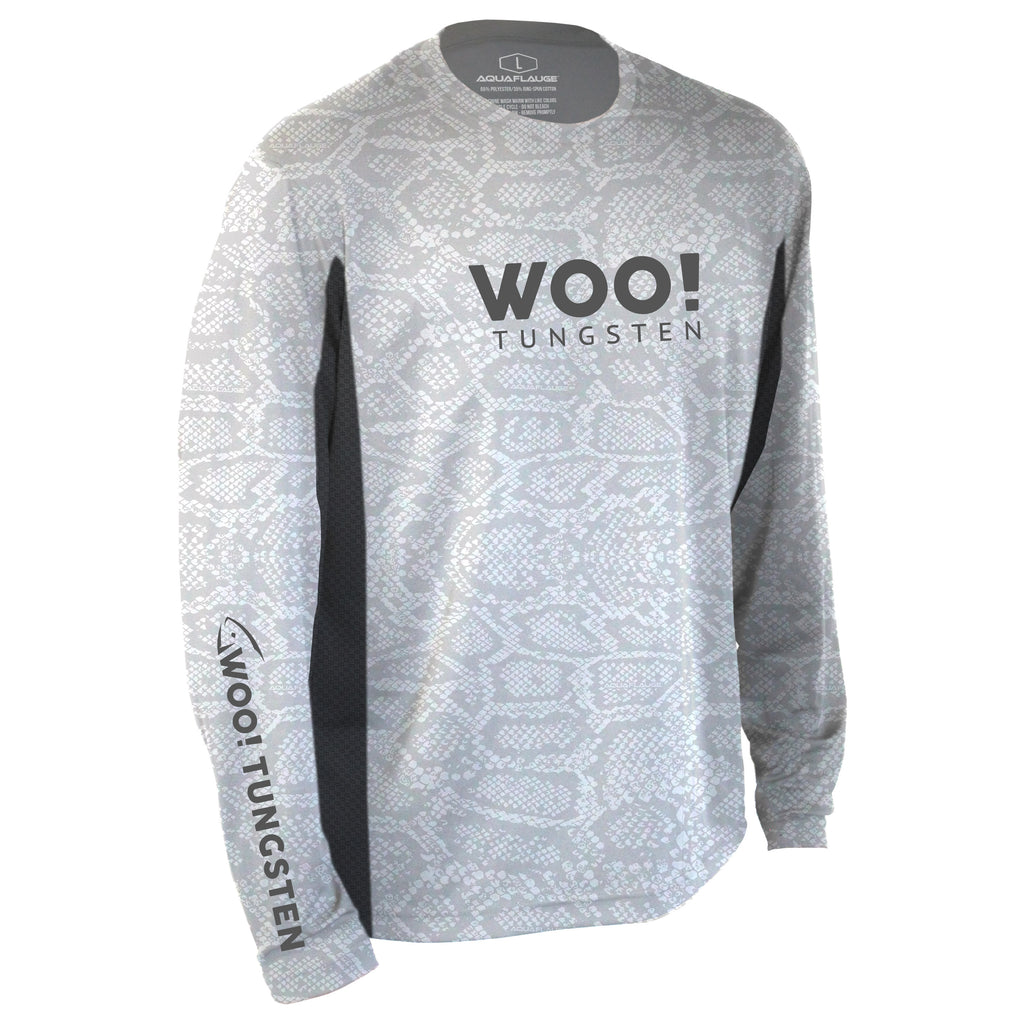 2020 WOO! Tungsten Pro Staff Jersey UV Performance Shirt (White) - WOO! TUNGSTEN