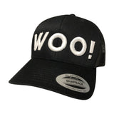Big Logo WOO! TUNGSTEN Trucker Hat (Black) - WOO! TUNGSTEN
