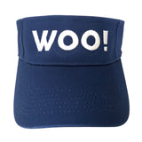 Big WOO! Visor (Royal Blue) - WOO! TUNGSTEN