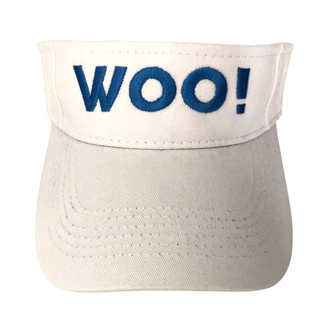 Big WOO! Visor (White) - WOO! TUNGSTEN