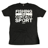 FISHING IS A CONTACT SPORT T-Shirt (Charcoal) - WOO! TUNGSTEN