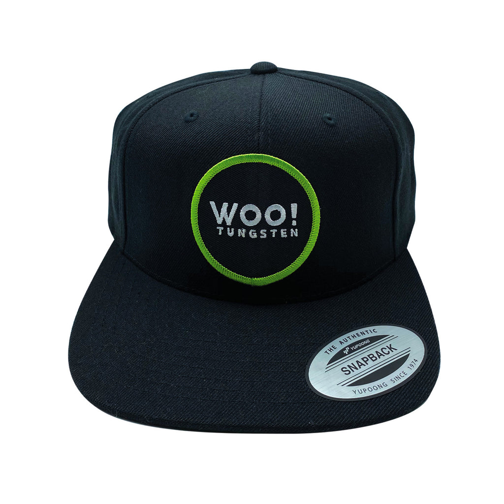 New Patch Wool Blend Snapback Hat (Black) - WOO! TUNGSTEN