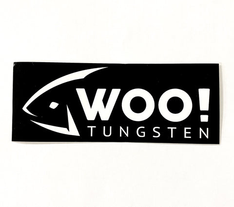 WOO! Vinyl Sticker (Black & White) - WOO! TUNGSTEN