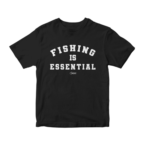 Fishing Is Essential WOO! Tungsten T-Shirt (Black) - WOO! TUNGSTEN
