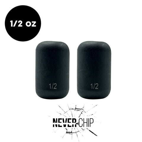 NEVER CHIP 1/2 oz Tungsten Carolina Rig Barrel Weight (2 Pack) - WOO! TUNGSTEN