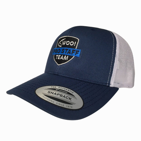 The Family Shield - Pro Staff Hat (Navy/White) - WOO! TUNGSTEN