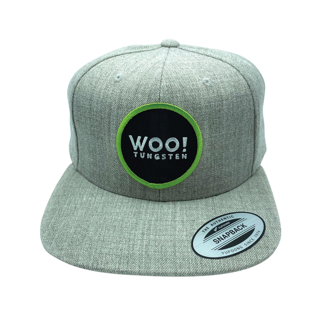 New Patch Wool Blend Snapback Hat (Gray) - WOO! TUNGSTEN