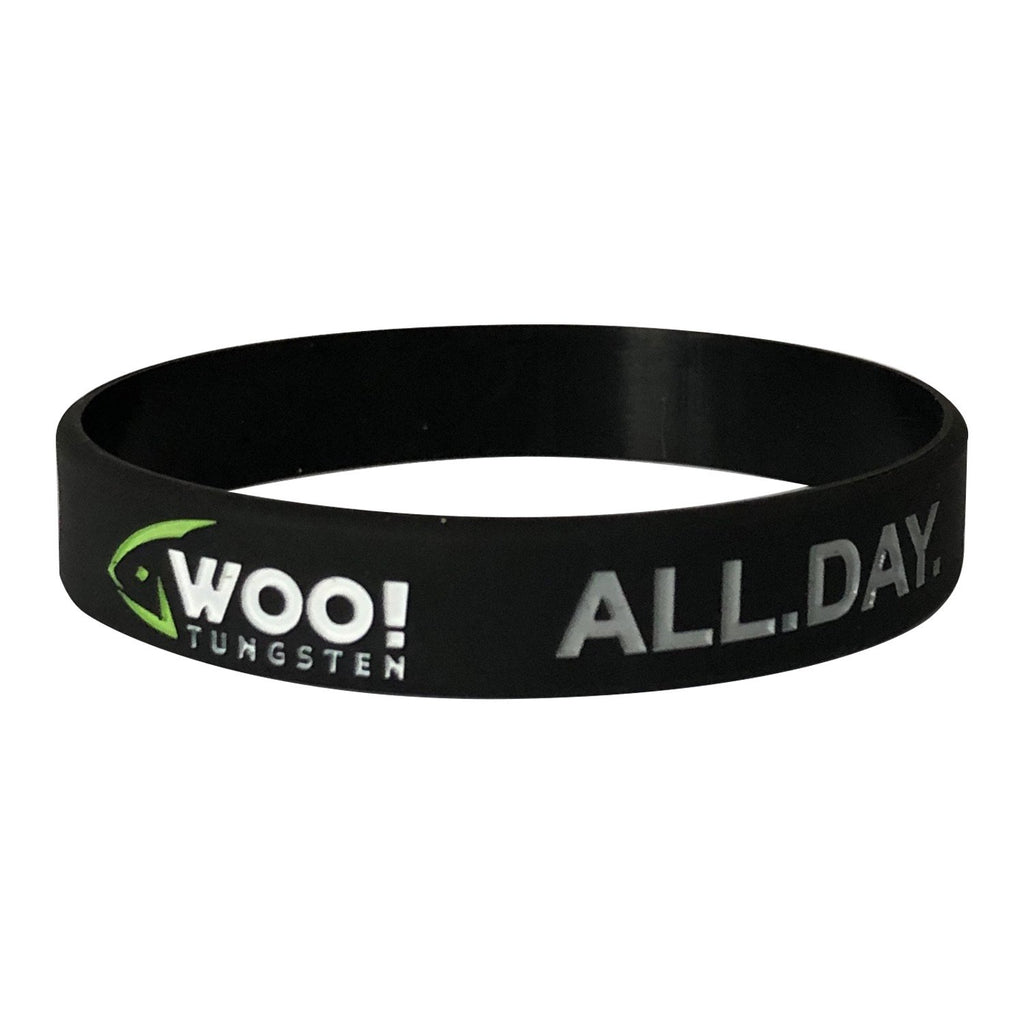 WOO! Tungsten Silicone Wristband (Black and Green) - WOO! TUNGSTEN