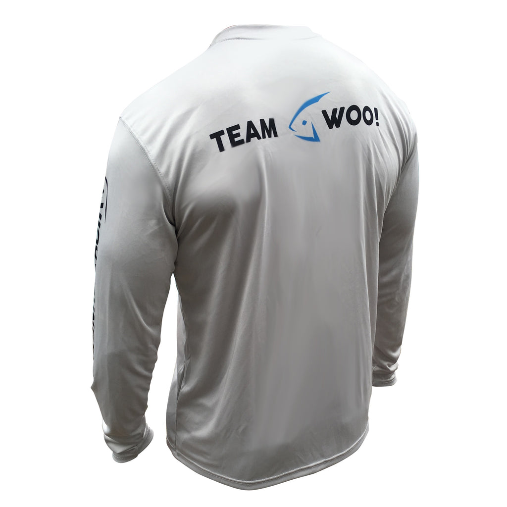 Pro Staff UV Long Sleeve Performance Shirt (Slate Gray) - WOO! TUNGSTEN