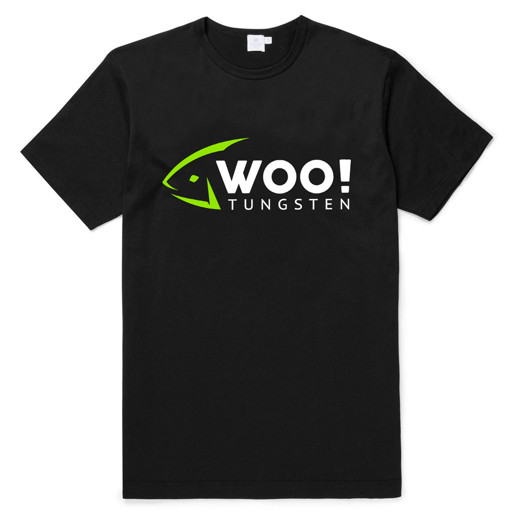 $5 WOO! Green Fish Head Logo T-Shirt (Black) - WOO! TUNGSTEN
