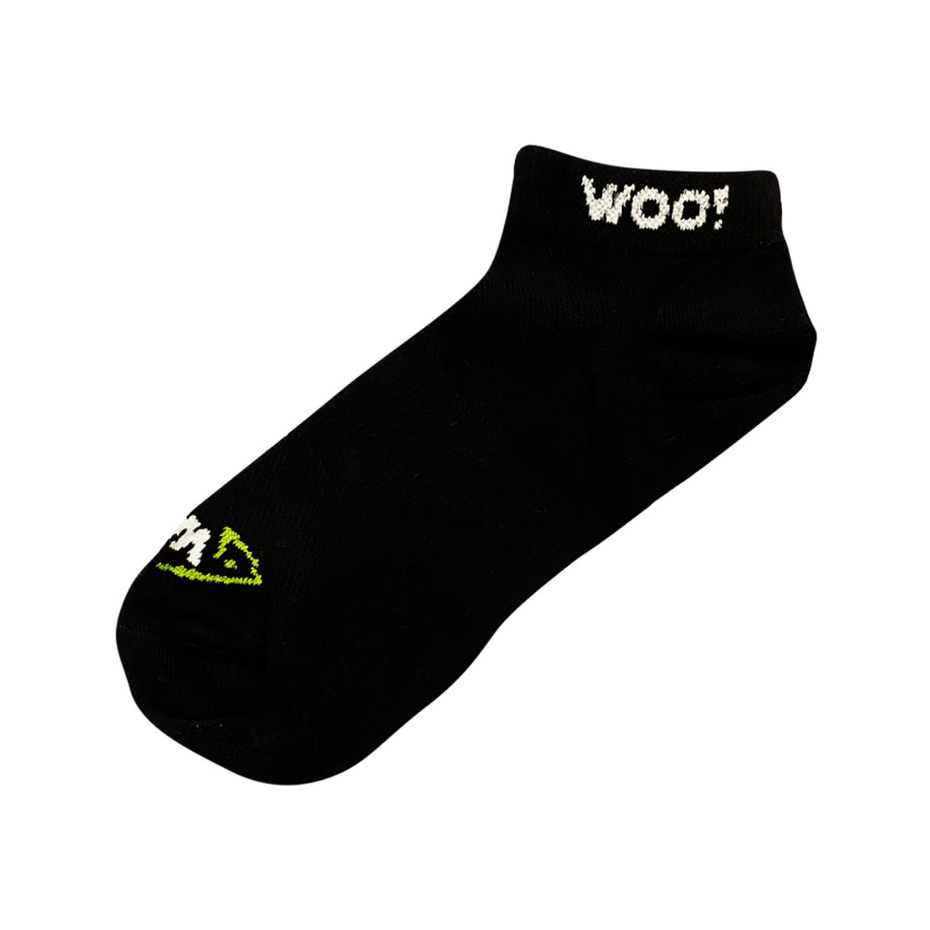 WOO! Tungsten Low Cut Athletic Socks (Black) - WOO! TUNGSTEN