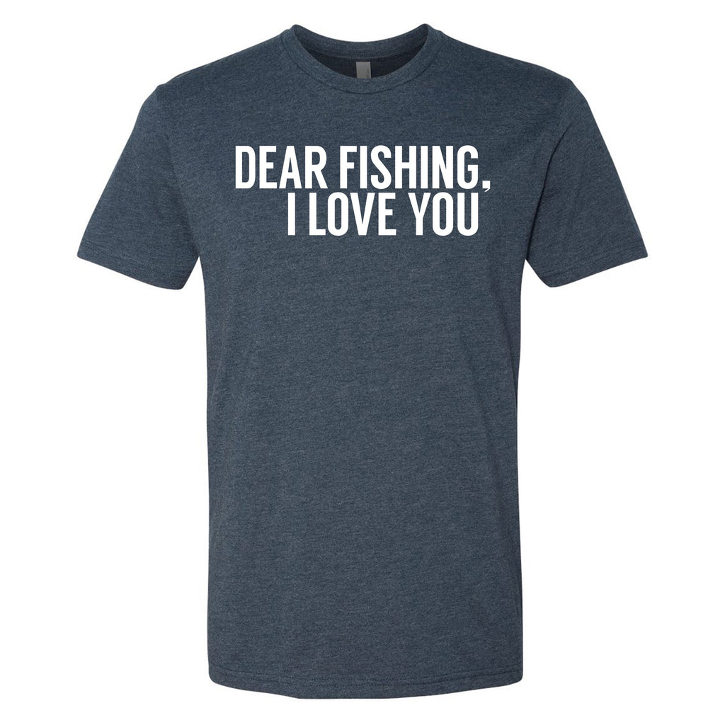 DEAR FISHING, I LOVE YOU T-Shirt (Navy) - WOO! TUNGSTEN