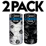 PRO STAFF 2 PACK - WOO! Tungsten Face Shields (BLACK & WHITE DESIGNS!) - WOO! TUNGSTEN