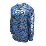 UV Long Sleeve Performance Shirt (Digital Camo Blue) - WOO! TUNGSTEN