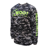 UV Long Sleeve Performance Shirt (Digital Camo Black) - WOO! TUNGSTEN