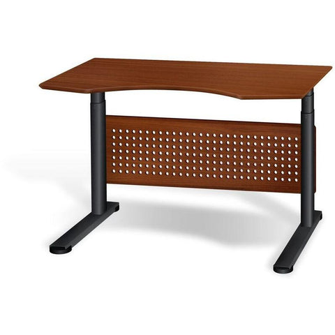 Cherry_Jesper Prestige Sit-Stand Collection Electric Height Adjustable Standing Desk 51""