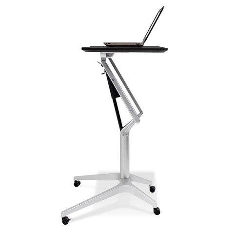 Unique Furniture Workpad Stand Up Height Adjustable Desk with Black Top - Stretch Desks - Height Adjustable Standing Desk