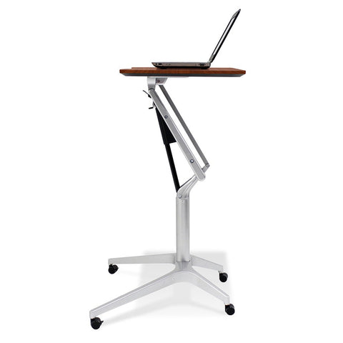 Unique Furniture Workpad Stand Up Height Adjustable Desk with Cherry Top - Stretch Desks - Height Adjustable Standing Desk