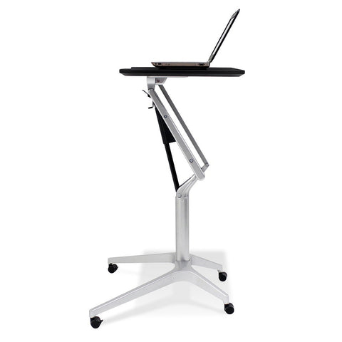 Unique Furniture Workpad Stand Up Height Adjustable Desk with Espresso Top - Stretch Desks - Height Adjustable Standing Desk