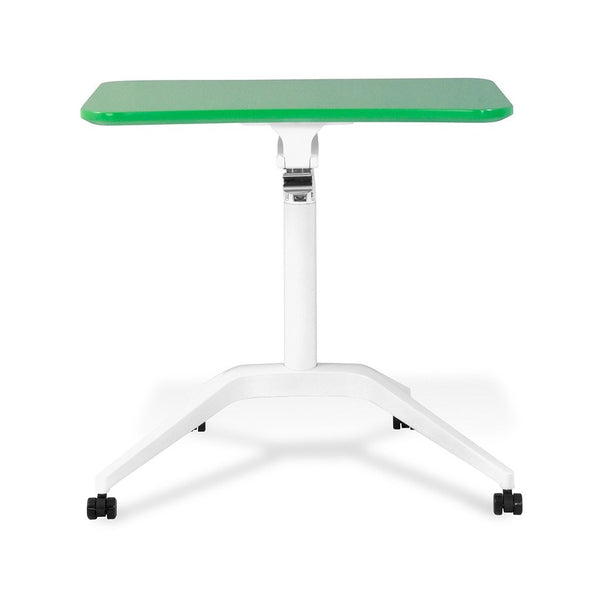 Unique Furniture Workpad Stand Up Height Adjustable Desk with Green Top - Stretch Desks - Height Adjustable Standing Desk