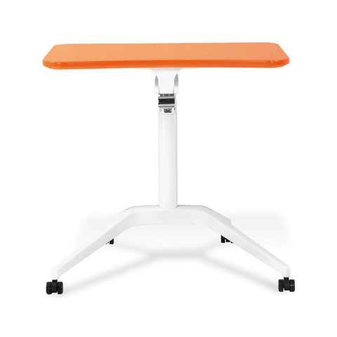Unique Furniture Workpad Stand Up Height Adjustable Desk with Orange Top - Stretch Desks - Height Adjustable Standing Desk