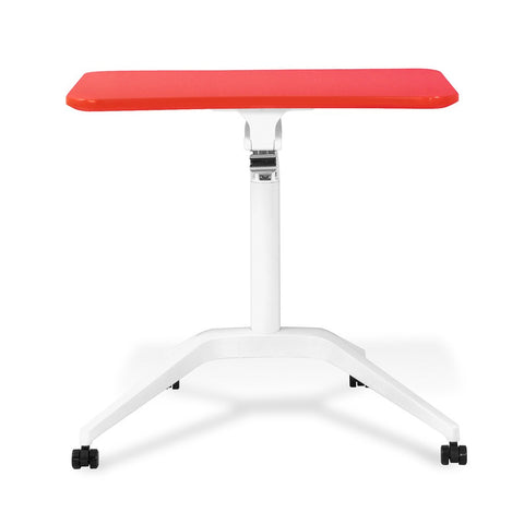 Unique Furniture Workpad Stand Up Height Adjustable Desk with Red Top - Stretch Desks - Height Adjustable Standing Desk