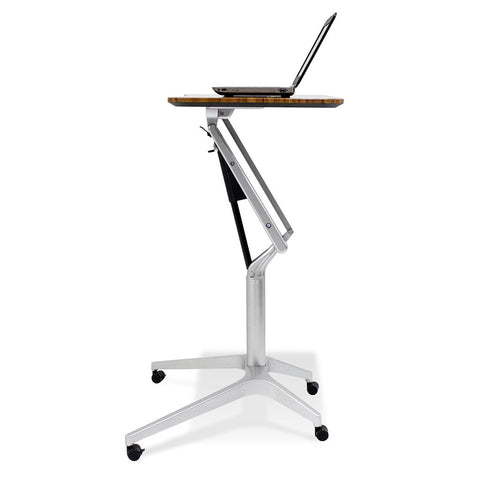 Unique Furniture Workpad Stand Up Height Adjustable Desk with Walnut Top - Stretch Desks - Height Adjustable Standing Desk