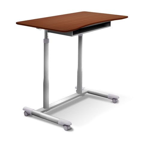 Unique Furniture Mobile Height Adjustable Stand Up Desk - Stretch Desks - Height Adjustable Standing Desk