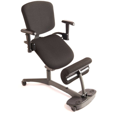 Healthpostures 5100 Stance Angle Sit-Stand Chair - Stretch Desks - Height Adjustable Standing Desk