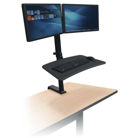 Up-Rite Rear Mount Desk Mounted Sit-Stand Workstation - Stretch Desks - Height Adjustable Standing Desk