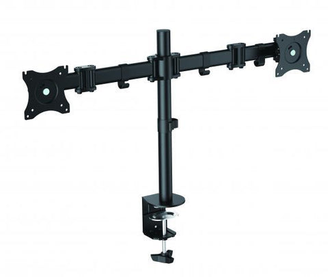 Rocelco DM2 Dual Monitor Mount For Desks And Desk Risers - Stretch Desks - Height Adjustable Standing Desk