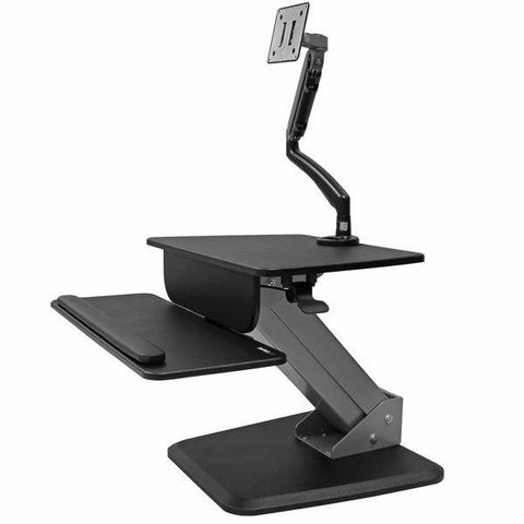 StarTech Sit-to-stand Workstation with Articulating Monitor Arm - Stretch Desks - Height Adjustable Standing Desk